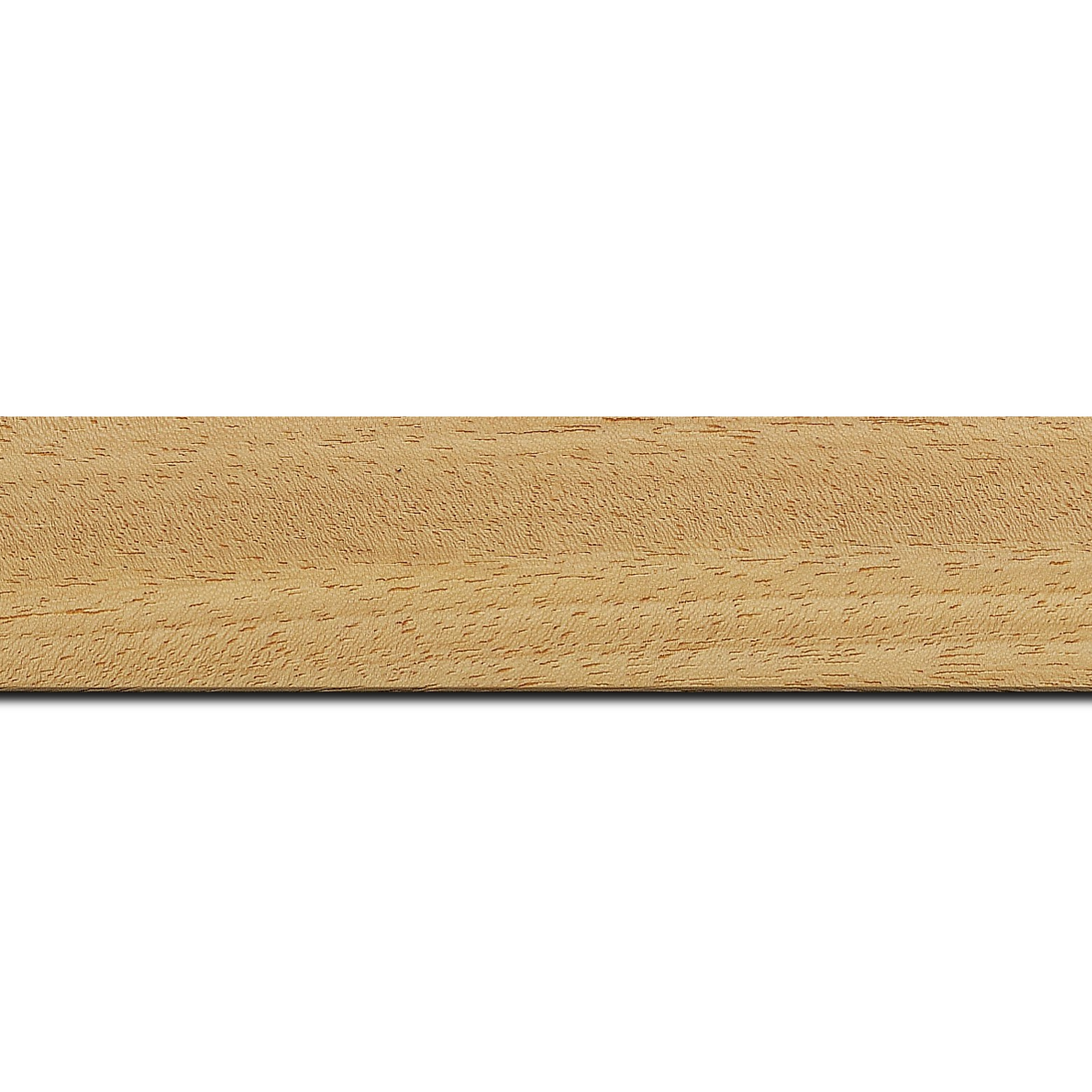 Pack par 12m, bois profil plat largeur 3.8cm ayous massif naturel (sans vernis,peut être peint...)(longueur baguette pouvant varier entre 2.40m et 3m selon arrivage des bois)