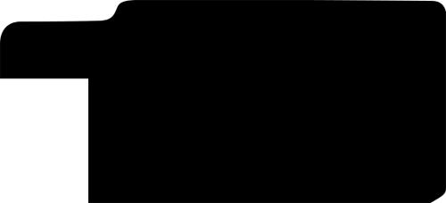 Baguette coupe droite bois profil plat largeur 3.3cm couleur noir fond argent filet argent