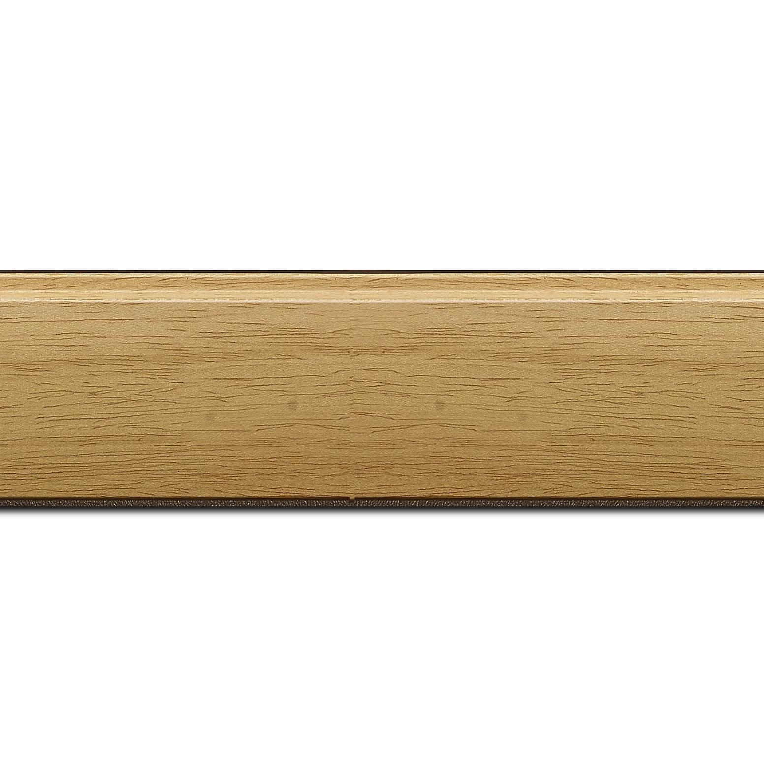 Pack par 12m, bois profil en pente méplat largeur 4.8cm ayous massif naturel (sans vernis, peut être peint...)  (longueur baguette pouvant varier entre 2.40m et 3m selon arrivage des bois)