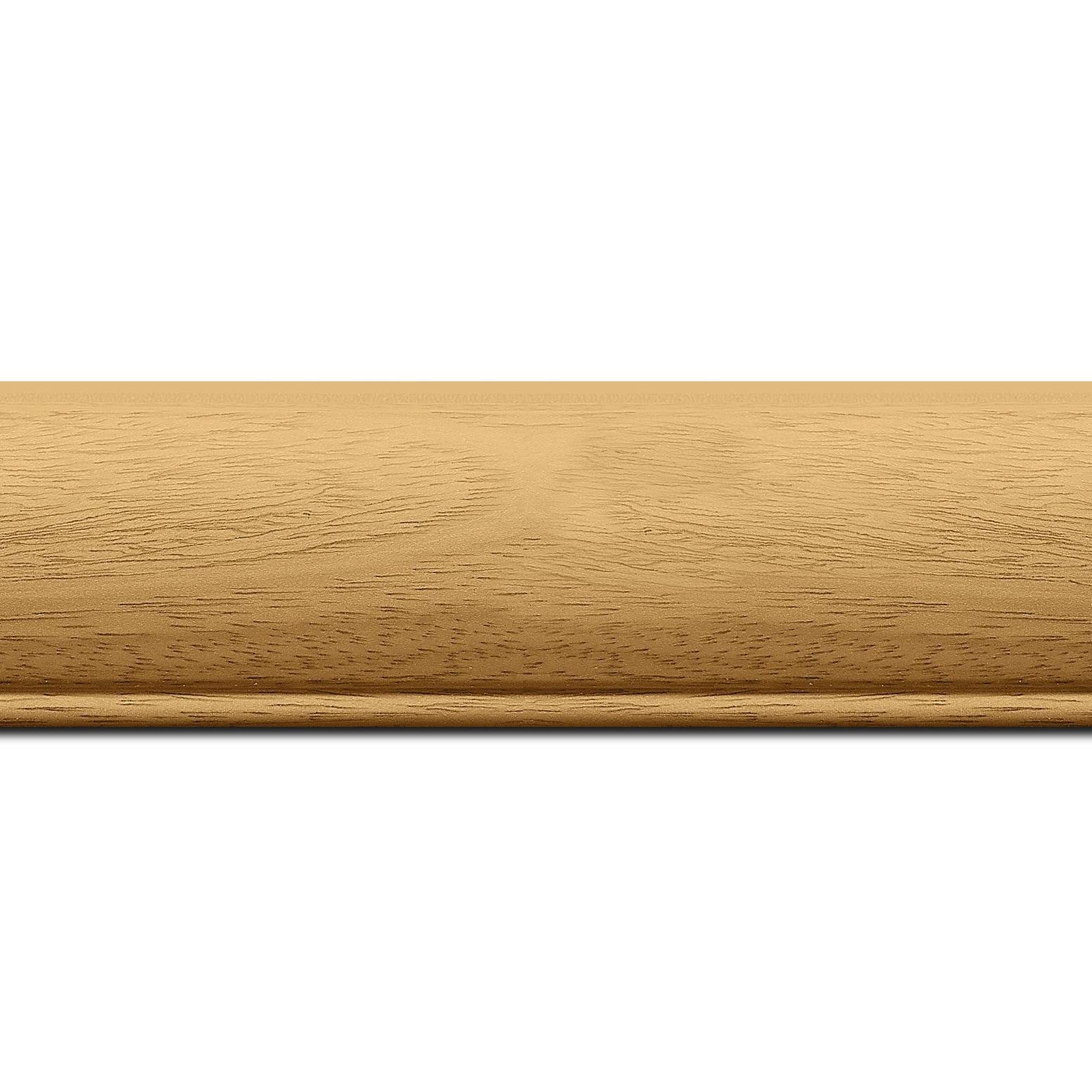 Baguette longueur 1.40m bois profil arrondi largeur 4.7cm couleur naturel satiné