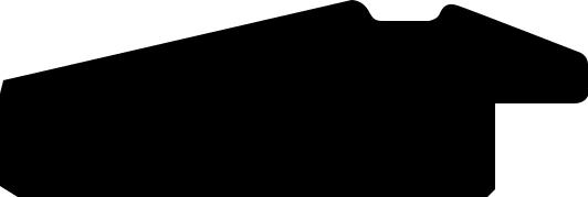 Baguette coupe droite bois profil pente largeur 4.5cm de couleur blanc mat filet bleu foncé