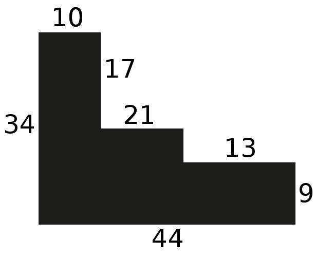 Baguette precoupe bois caisse américaine profil escalier largeur 4.4cm blanc mat filet or (spécialement conçu pour les châssis d'une épaisseur jusqu'à 2.5cm )