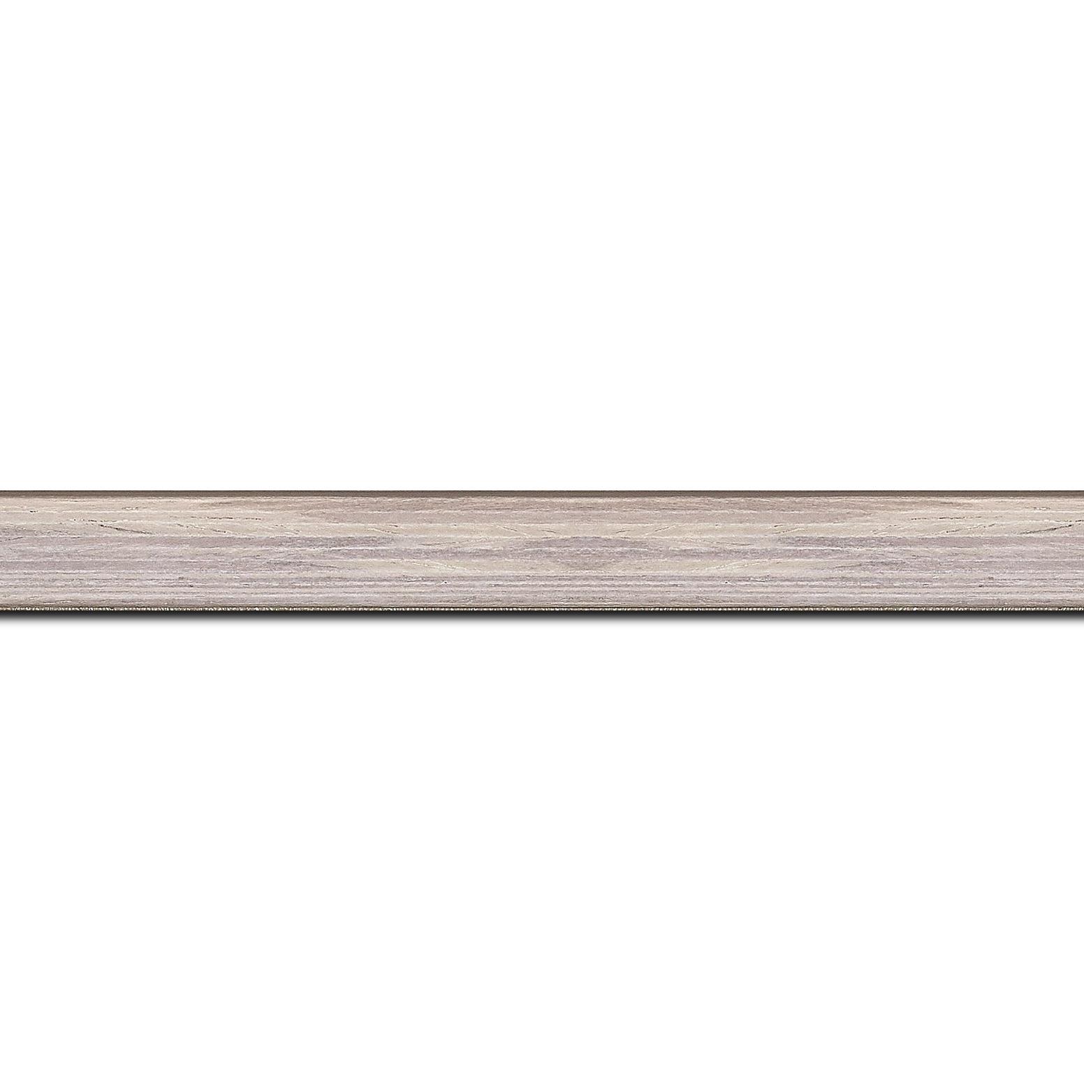 Baguette longueur 1.40m bois profil plat largeur 1.5cm  plaquage bois gris blanchi haut de gamme