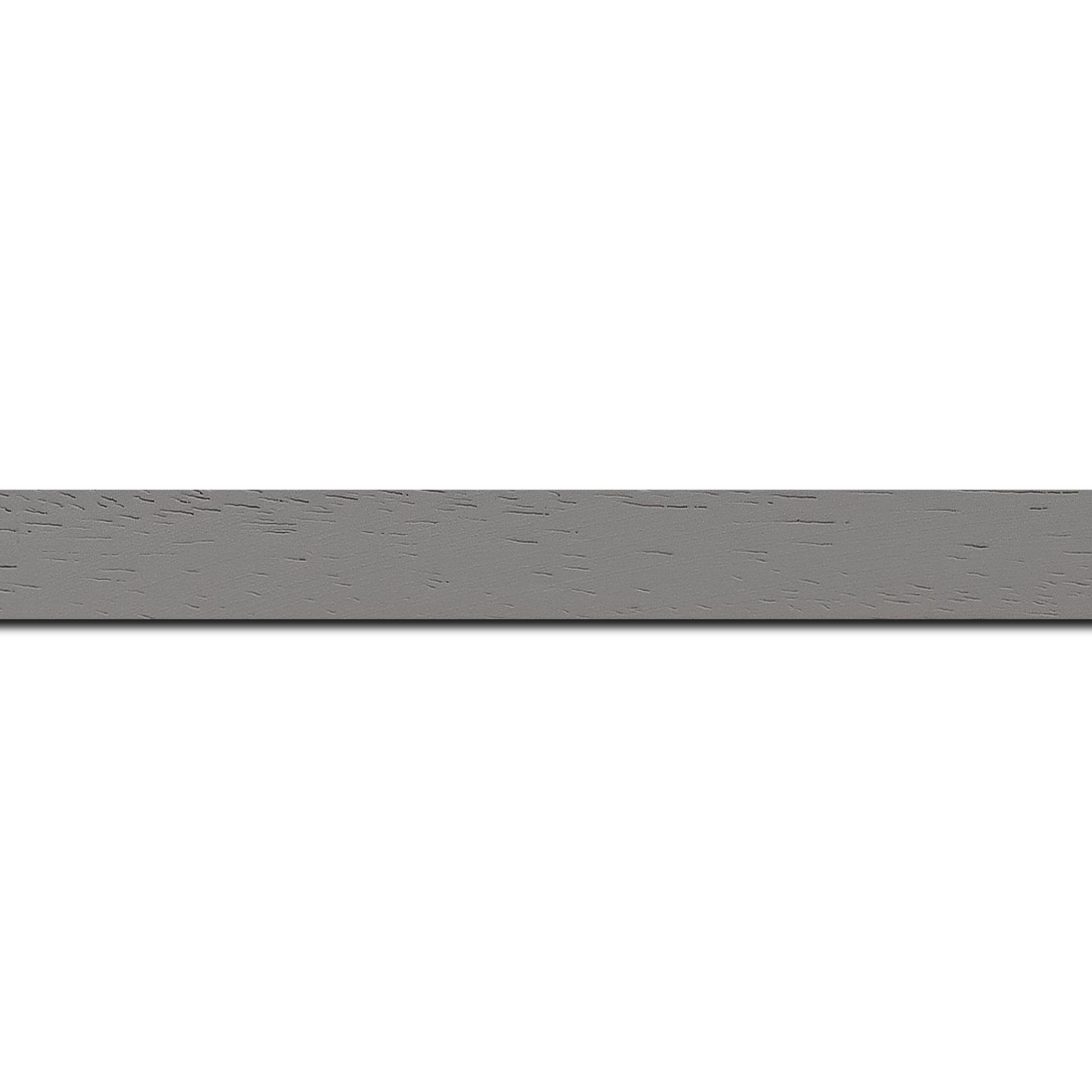 Pack par 12m, bois profil plat largeur 2cm couleur gris clair satiné(longueur baguette pouvant varier entre 2.40m et 3m selon arrivage des bois)
