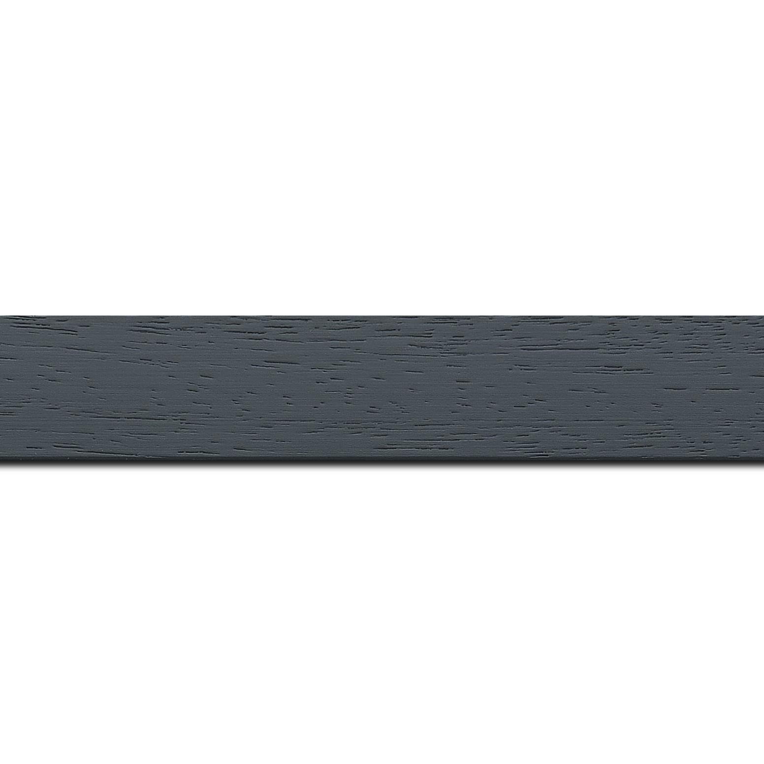 Baguette longueur 1.40m bois profil plat largeur 3cm couleur gris foncé satiné