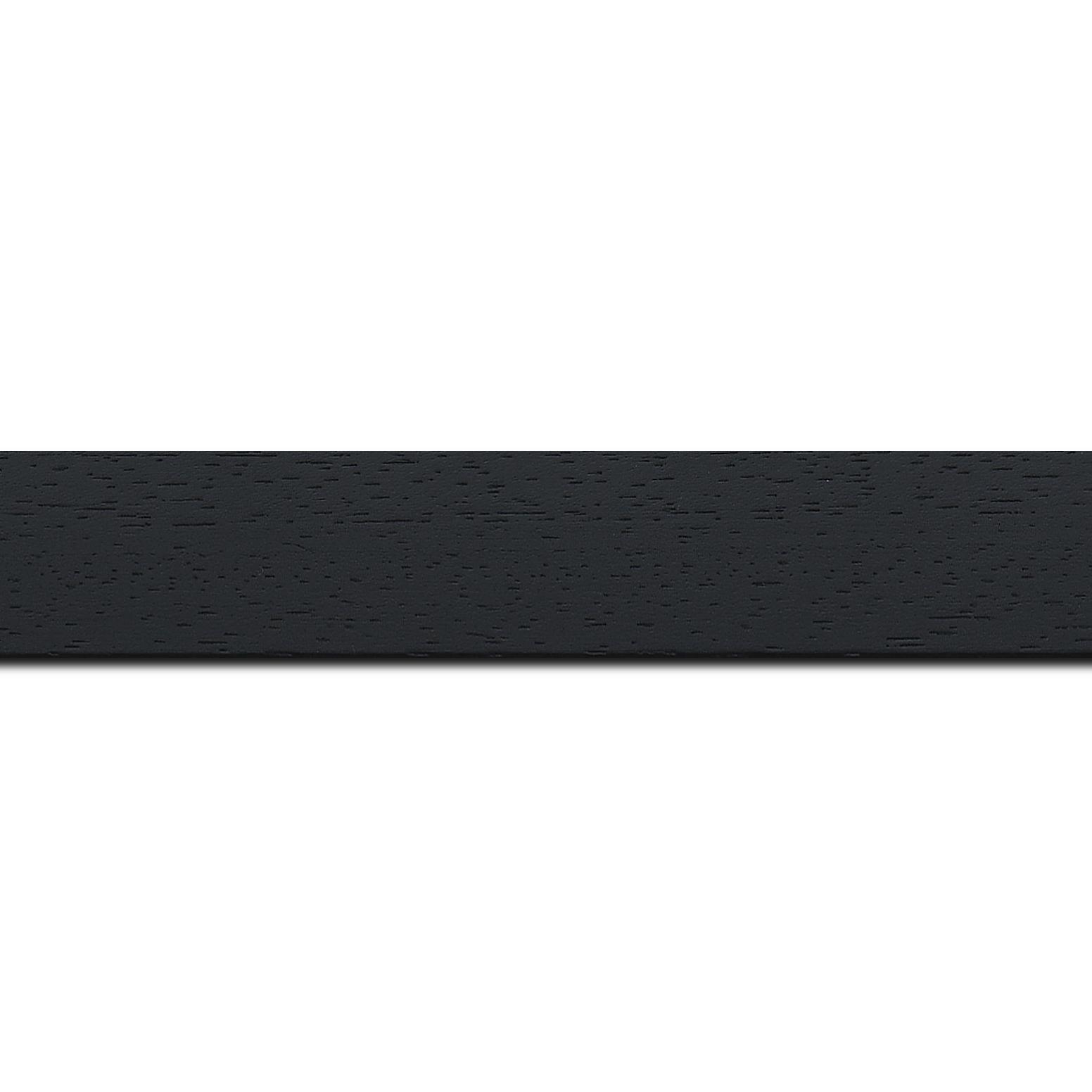 Baguette longueur 1.40m bois profil plat largeur 3cm couleur noir satiné