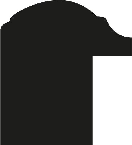 Baguette coupe droite bois profil jonc largeur 1.7cm argent style décor laurier