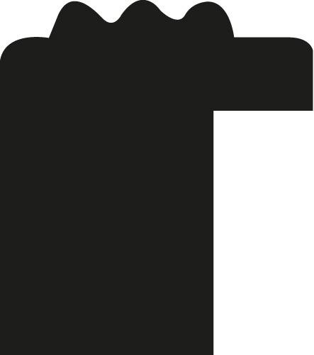 Baguette coupe droite bois profil jonc largeur 1.5cm argent style décor sillons