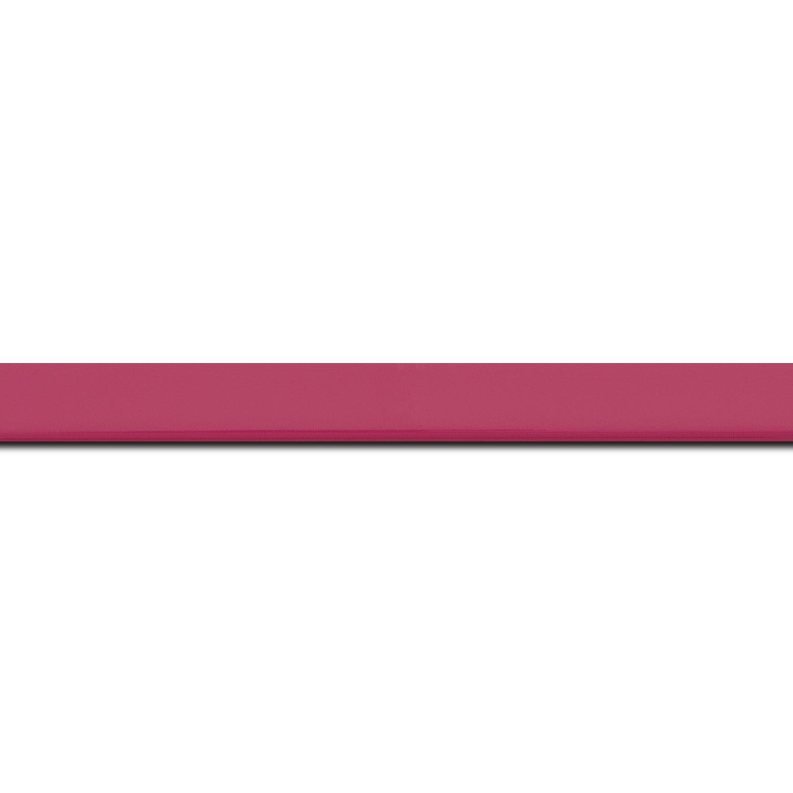 Baguette longueur 1.40m bois profil méplat largeur 1.4cm couleur rose tonique laqué