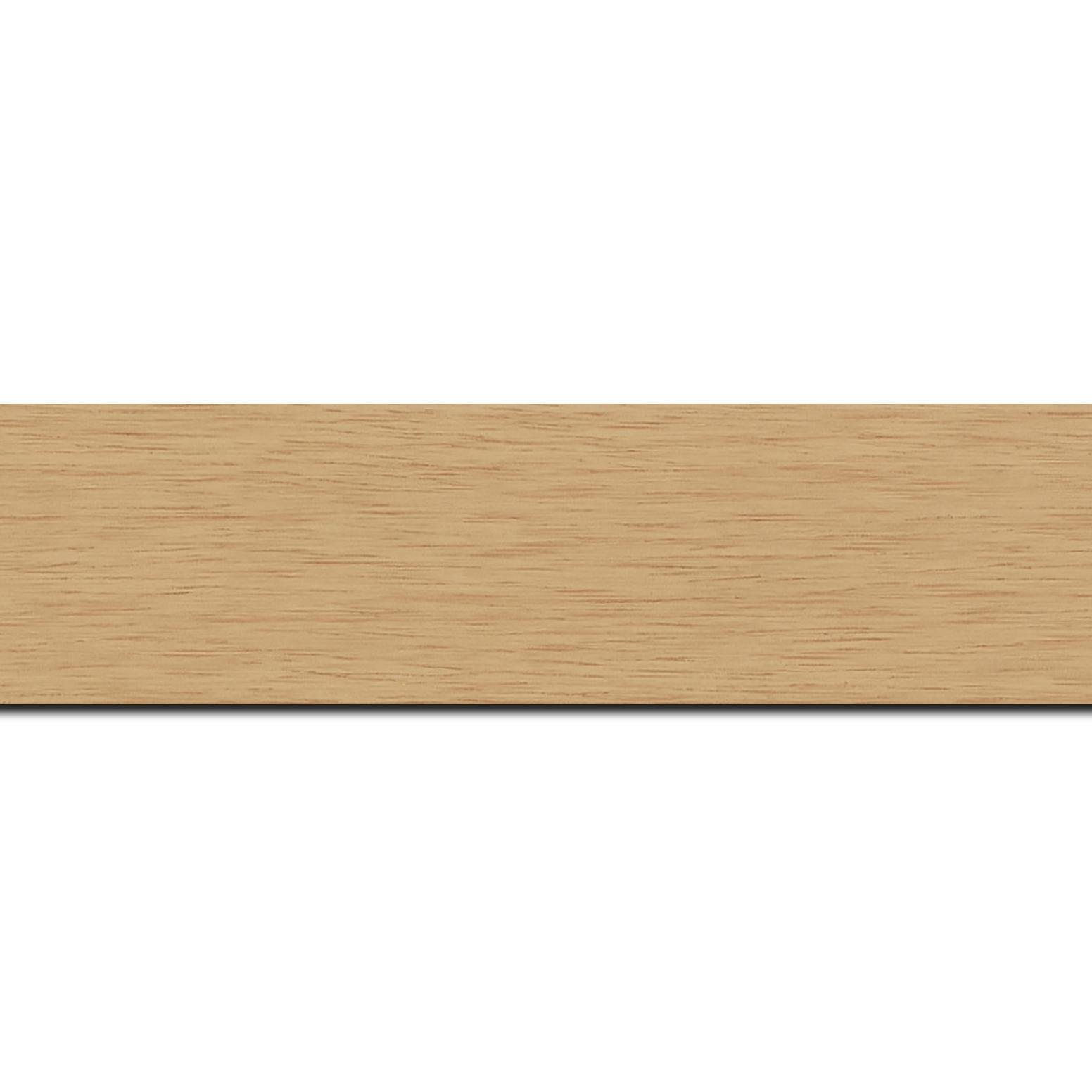 Pack par 12m, bois profil plat largeur 4.1cm couleur naturel satiné (longueur baguette pouvant varier entre 2.40m et 3m selon arrivage des bois)