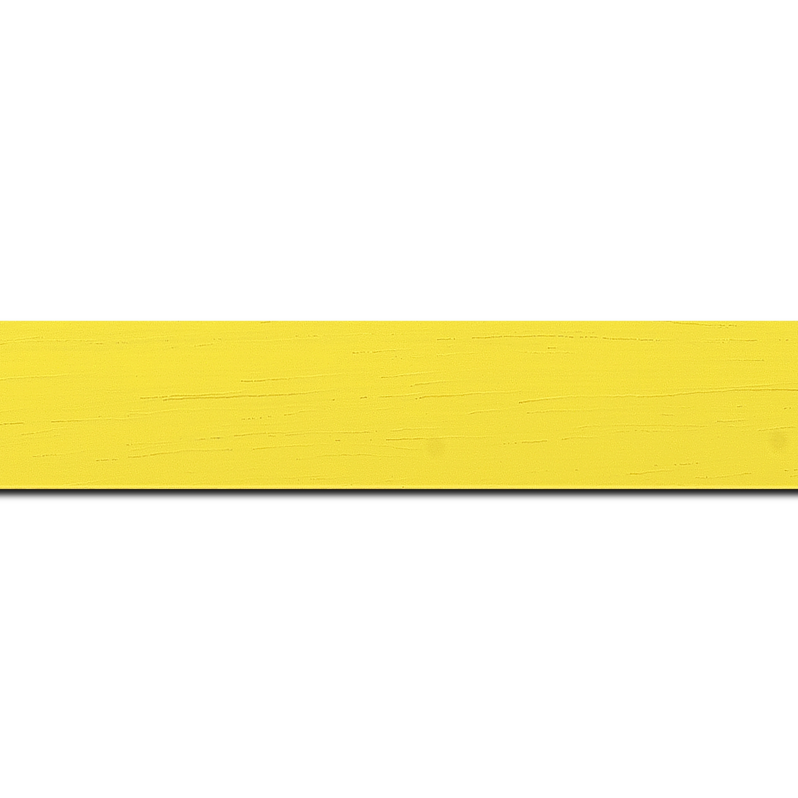 Baguette longueur 1.40m bois profil plat largeur 3cm couleur jaune tonique satiné