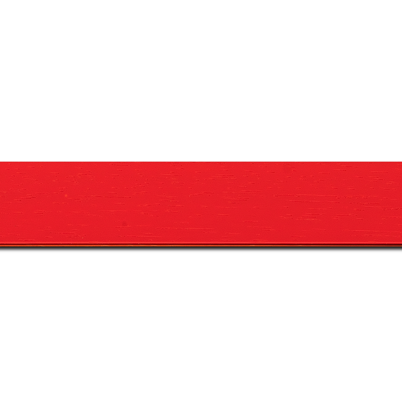 Baguette longueur 1.40m bois profil plat largeur 3cm couleur rouge tonique satiné