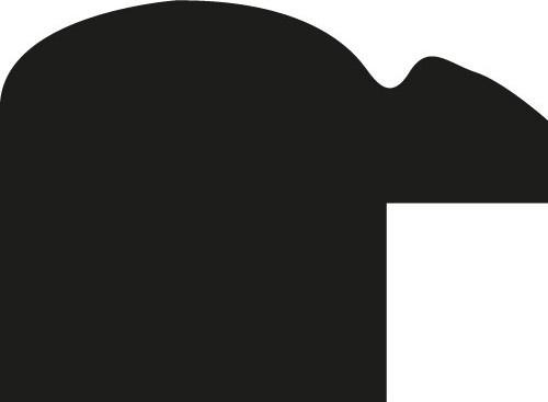 Baguette coupe droite bois profil arrondi largeur 2.1cm  couleur noir mat filet blanc