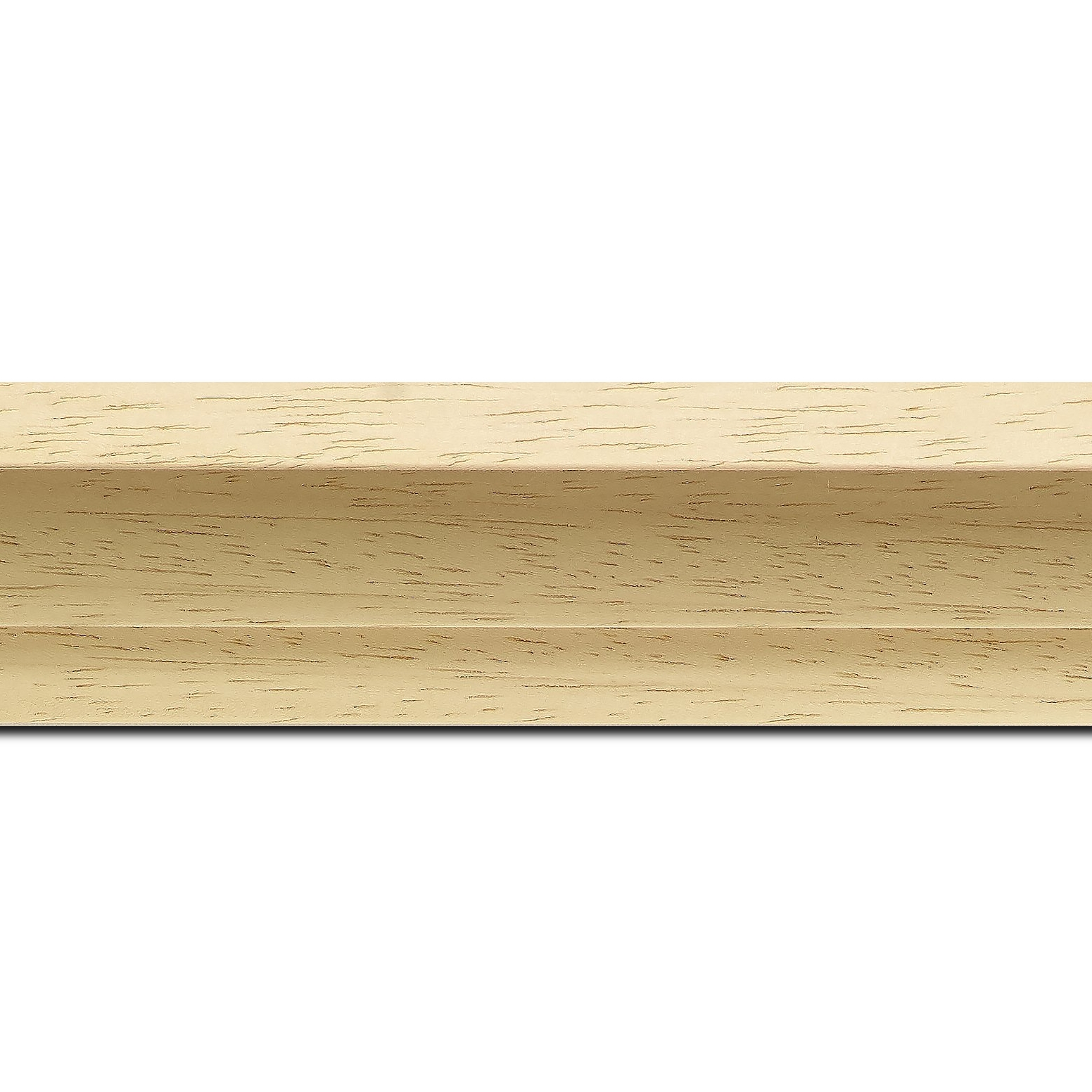 Baguette longueur 1.40m bois caisse américaine xl profil escalier largeur 4.9cm naturel (spécialement conçu pour les châssis 3d d'une épaisseur de 3 à 4cm) sans verni,peut être peint...