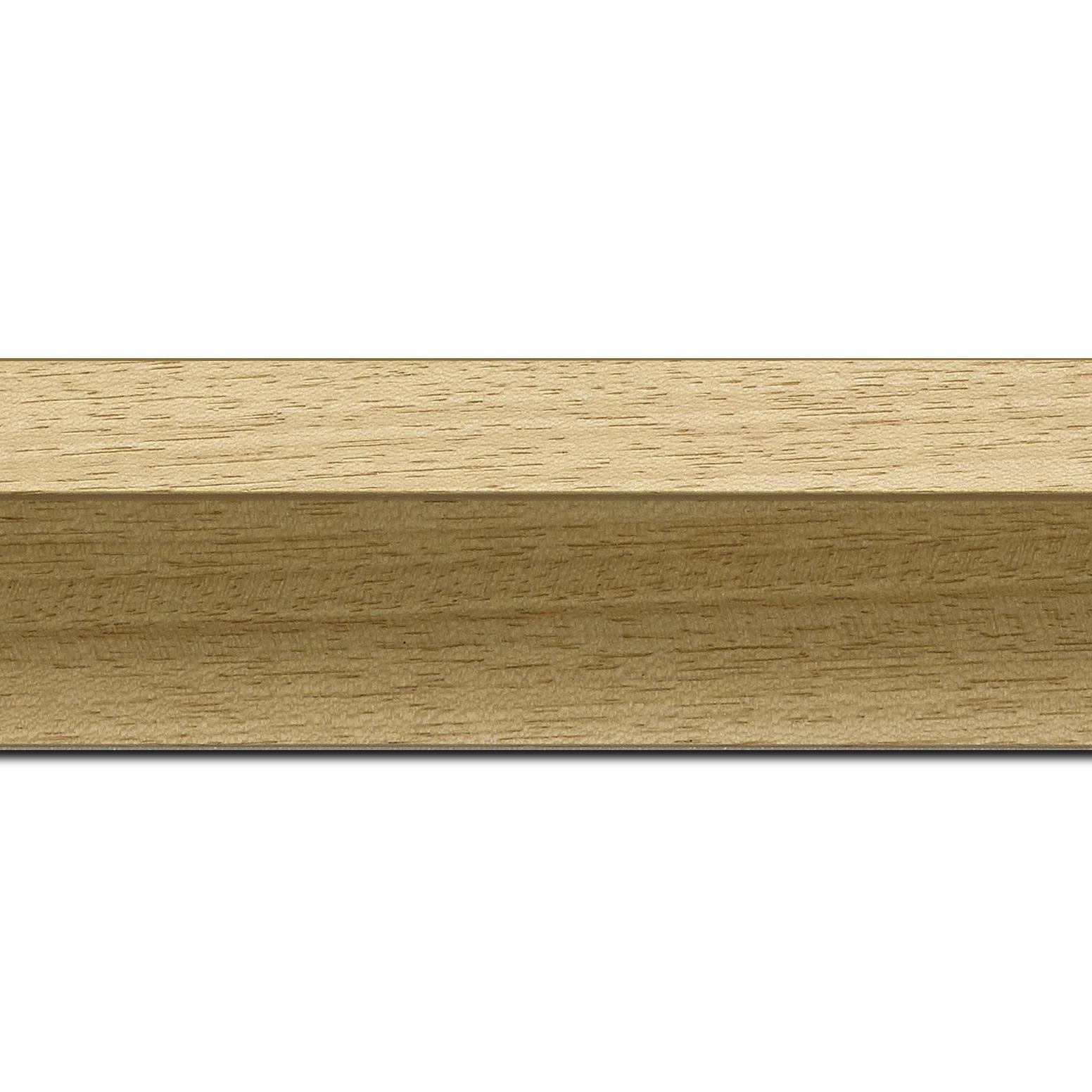 Baguette longueur 1.40m bois caisse américaine profil en l (flottante) largeur 4.5cm naturel brut plat extérieur largeur 2cm qualitÉ galerie (spécialement conçu pour les châssis d'une épaisseur jusqu'à 3cm ) sans vernis,peut être peint...information complémentaire : il faut renseigner la dimension précise de votre sujet  et l'espace intérieur entre la toile et le cadre sera de 2cm