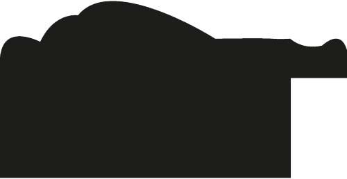 Baguette precoupe bois incurvé profil incurvé largeur 4.1cm couleur marron foncé aspect veiné liseret or