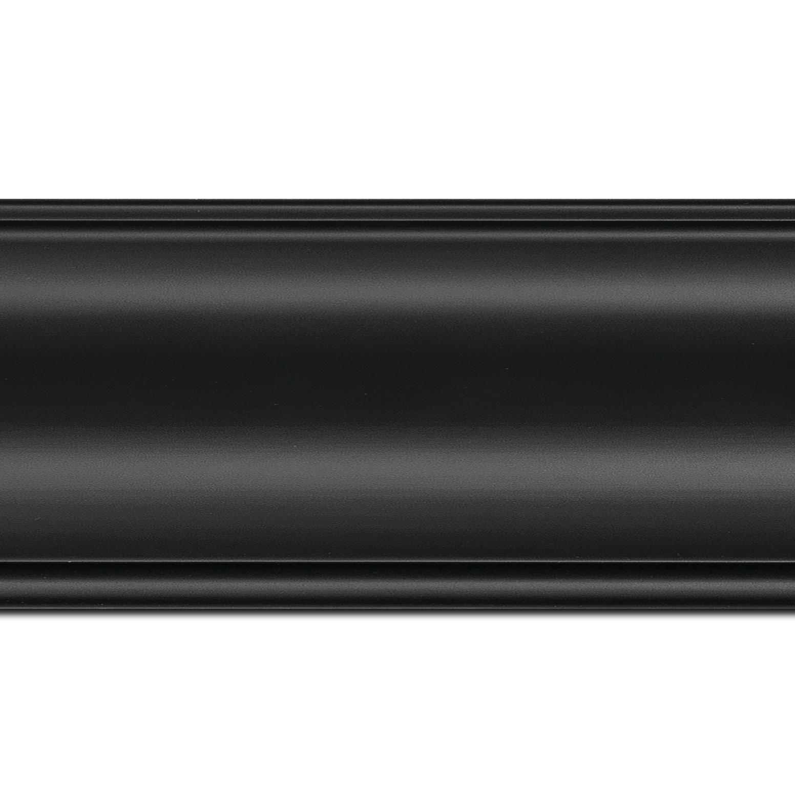 Baguette longueur 1.40m bois profil inversé largeur 9.1cm couleur noir satiné