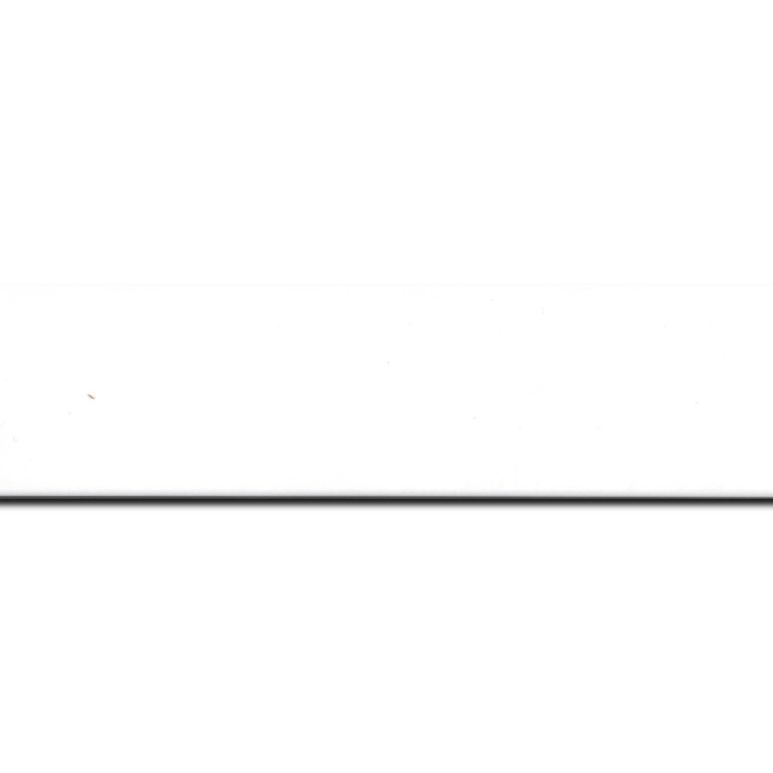 Baguette longueur 1.40m bois profil plat largeur 4.1cm couleur blanc mat finition pore bouché