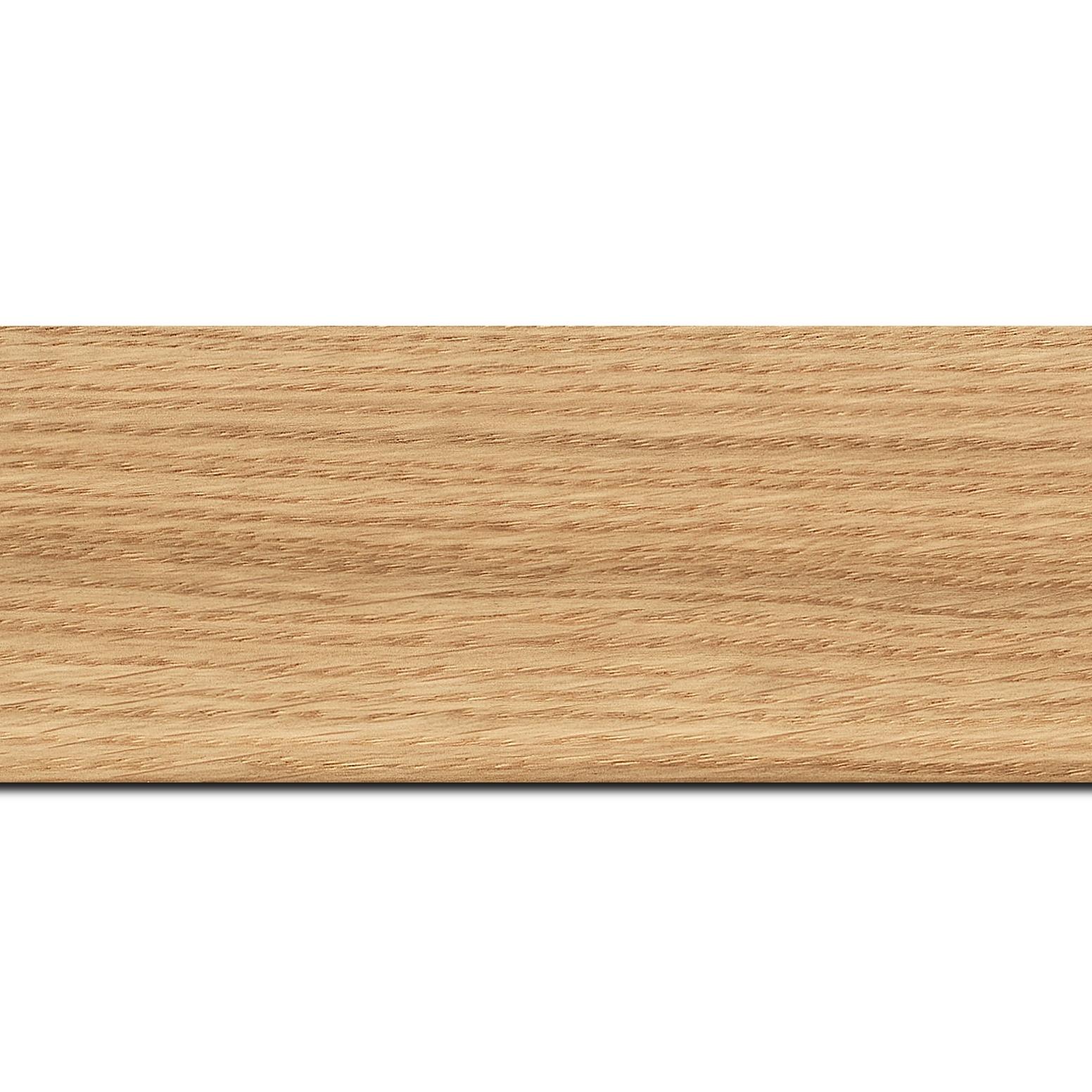 Baguette longueur 1.40m bois profil plat largeur 6.3cm plaquage haut de gamme chêne naturel