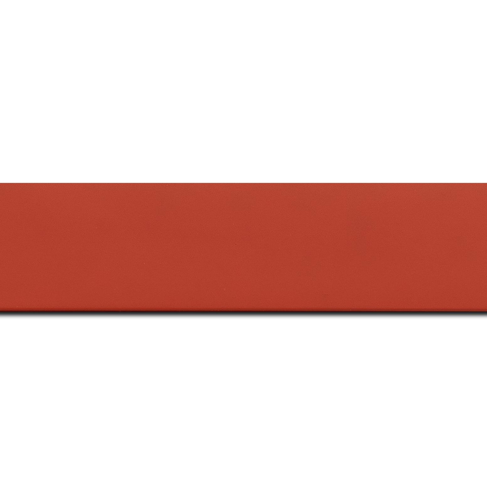 Baguette longueur 1.40m bois profil plat largeur 3.9cm couleur rouge mat