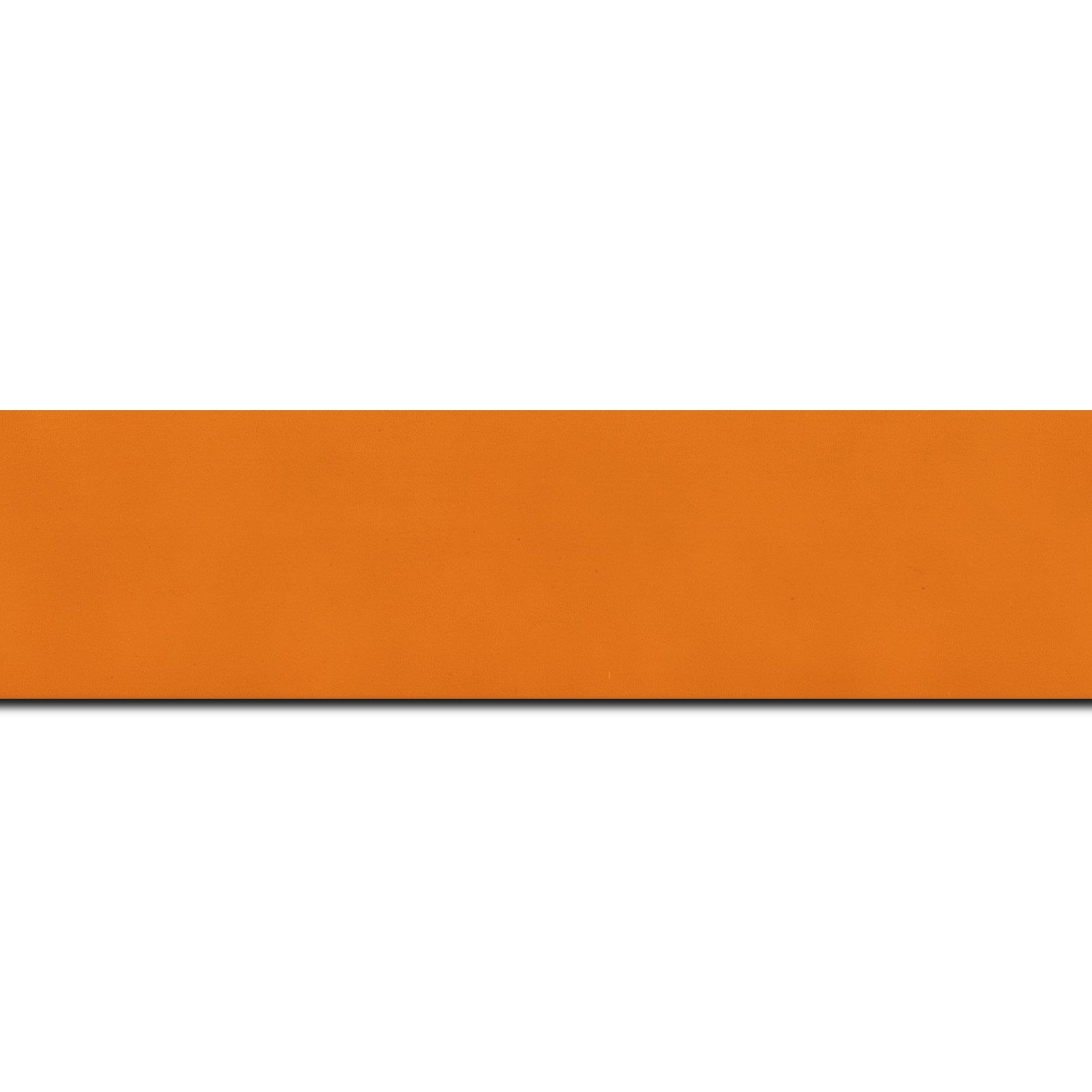 Baguette longueur 1.40m bois profil plat largeur 3.9cm couleur orange mat