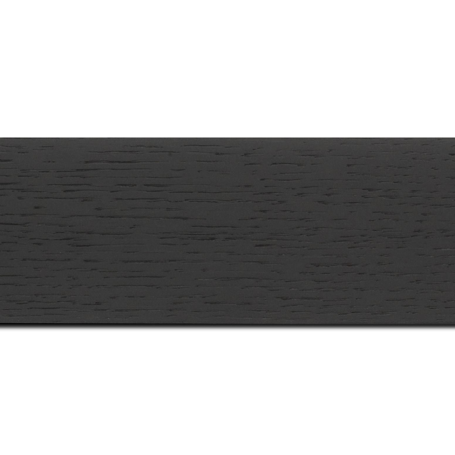 Baguette longueur 1.40m bois profil plat largeur 6.3cm plaquage haut de gamme chêne teinté noir