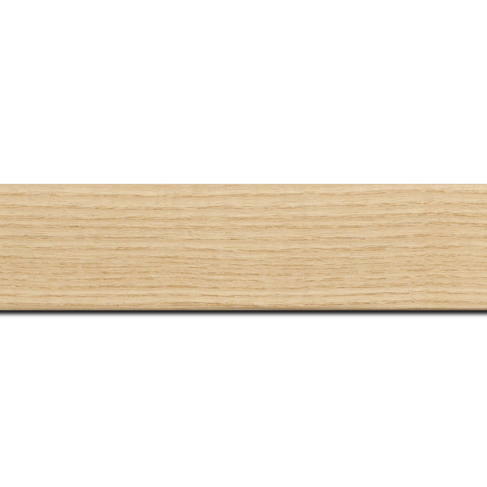 Pack par 12m, bois profil plat largeur 4cm plaquage haut de gamme frêne naturel(longueur baguette pouvant varier entre 2.40m et 3m selon arrivage des bois)