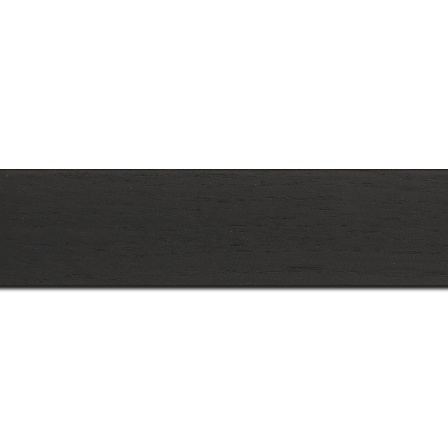 Baguette longueur 1.40m bois profil plat largeur 4cm plaquage haut de gamme chêne teinté noir