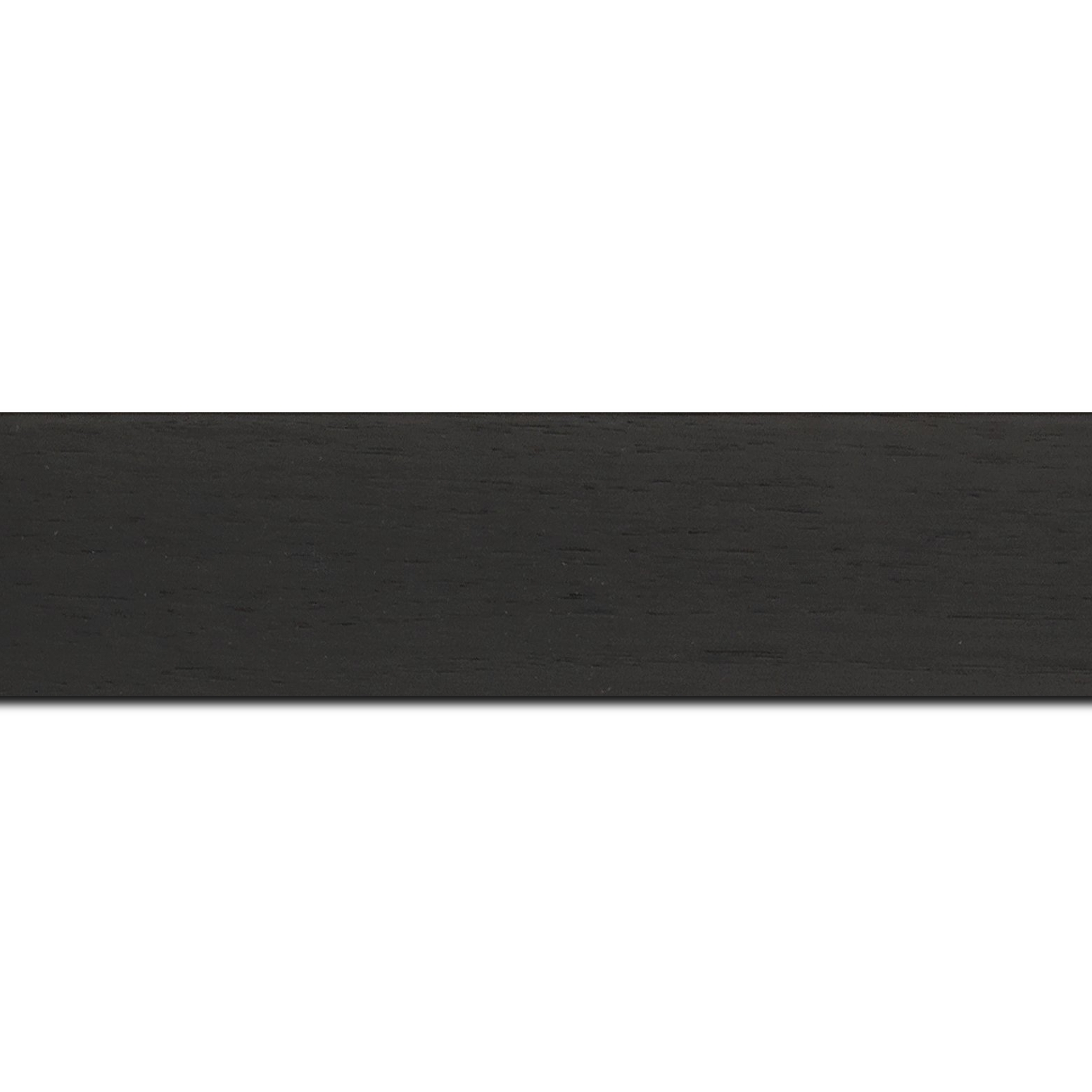 Pack par 12m, bois profil plat largeur 4cm plaquage haut de gamme chêne teinté noir(longueur baguette pouvant varier entre 2.40m et 3m selon arrivage des bois)