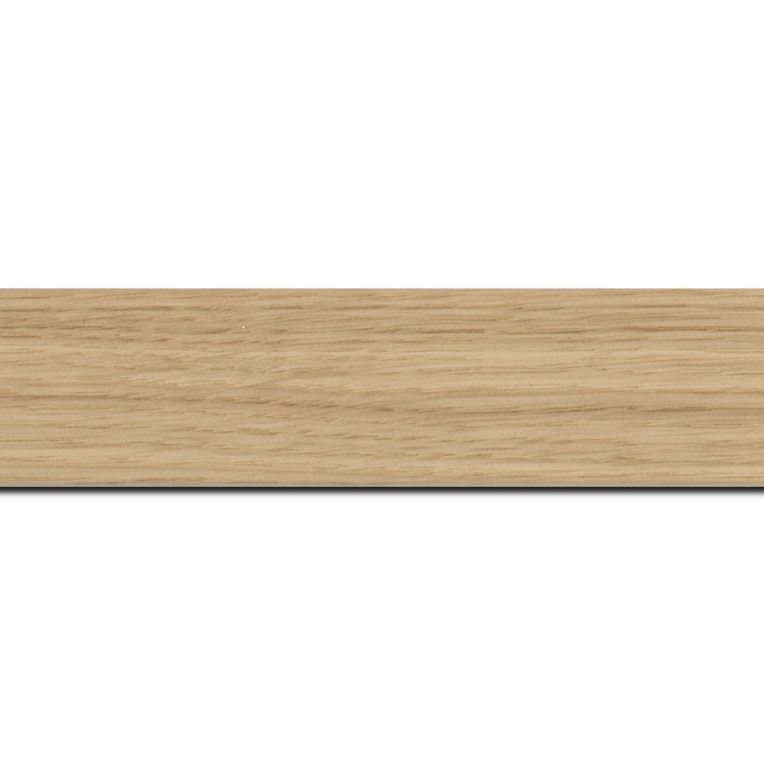 Baguette longueur 1.40m bois profil plat largeur 4cm plaquage haut de gamme chêne naturel
