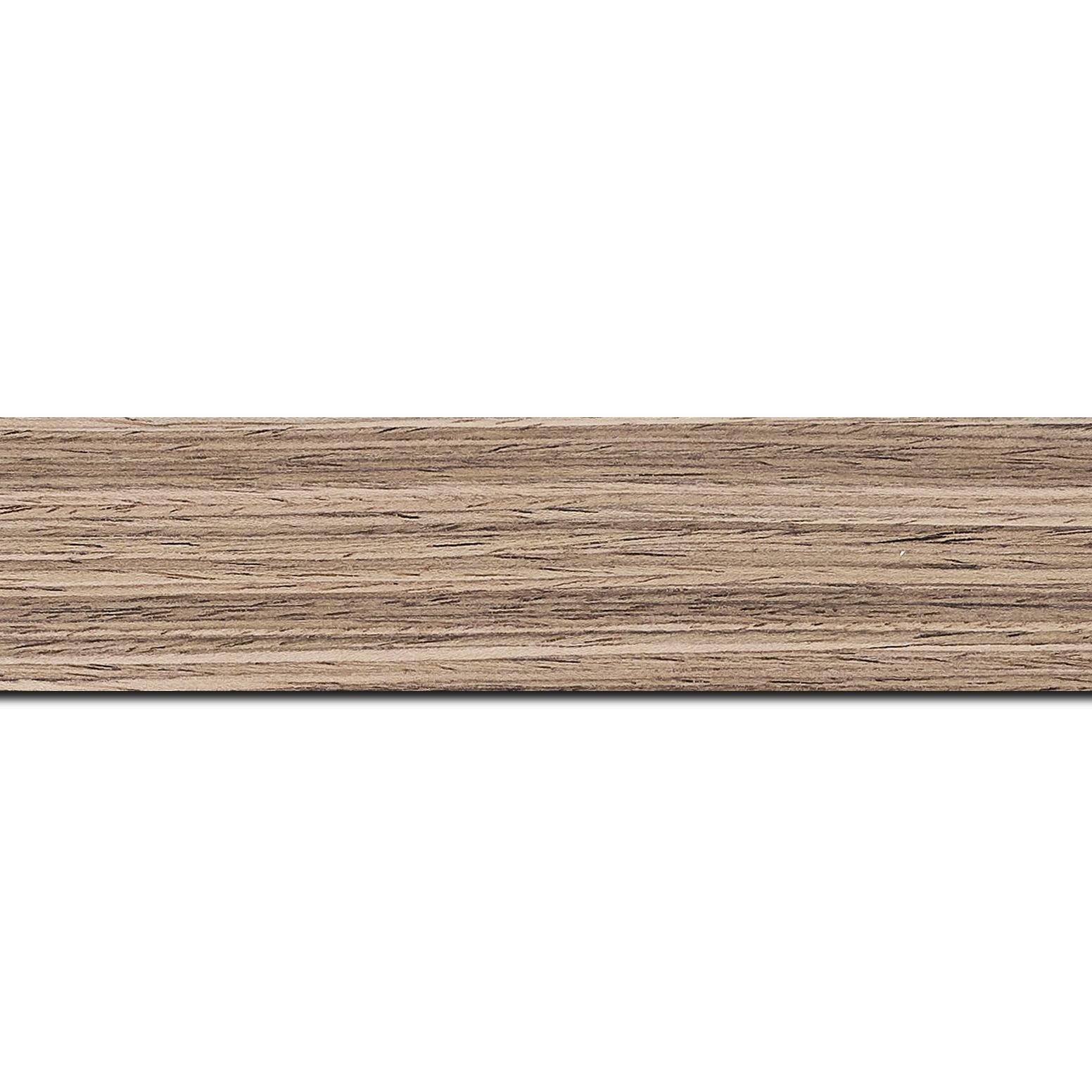 Pack par 12m, bois profil plat largeur 4cm plaquage noyer haut de gamme(longueur baguette pouvant varier entre 2.40m et 3m selon arrivage des bois)