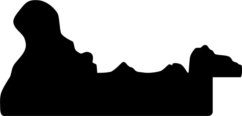 Baguette 12m bois profil incurvé largeur 9.8cm noir antique style ornement