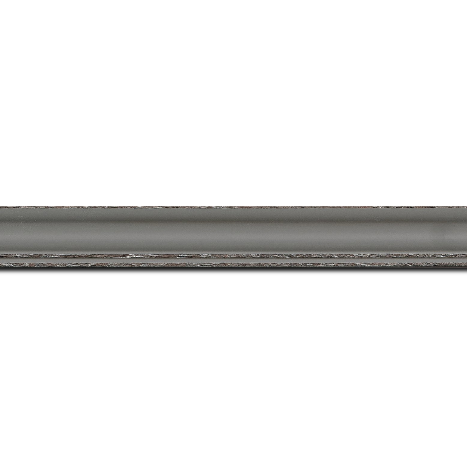 Baguette longueur 1.40m bois profil doucine inversée largeur 2.3cm gris satiné bord ressuyé