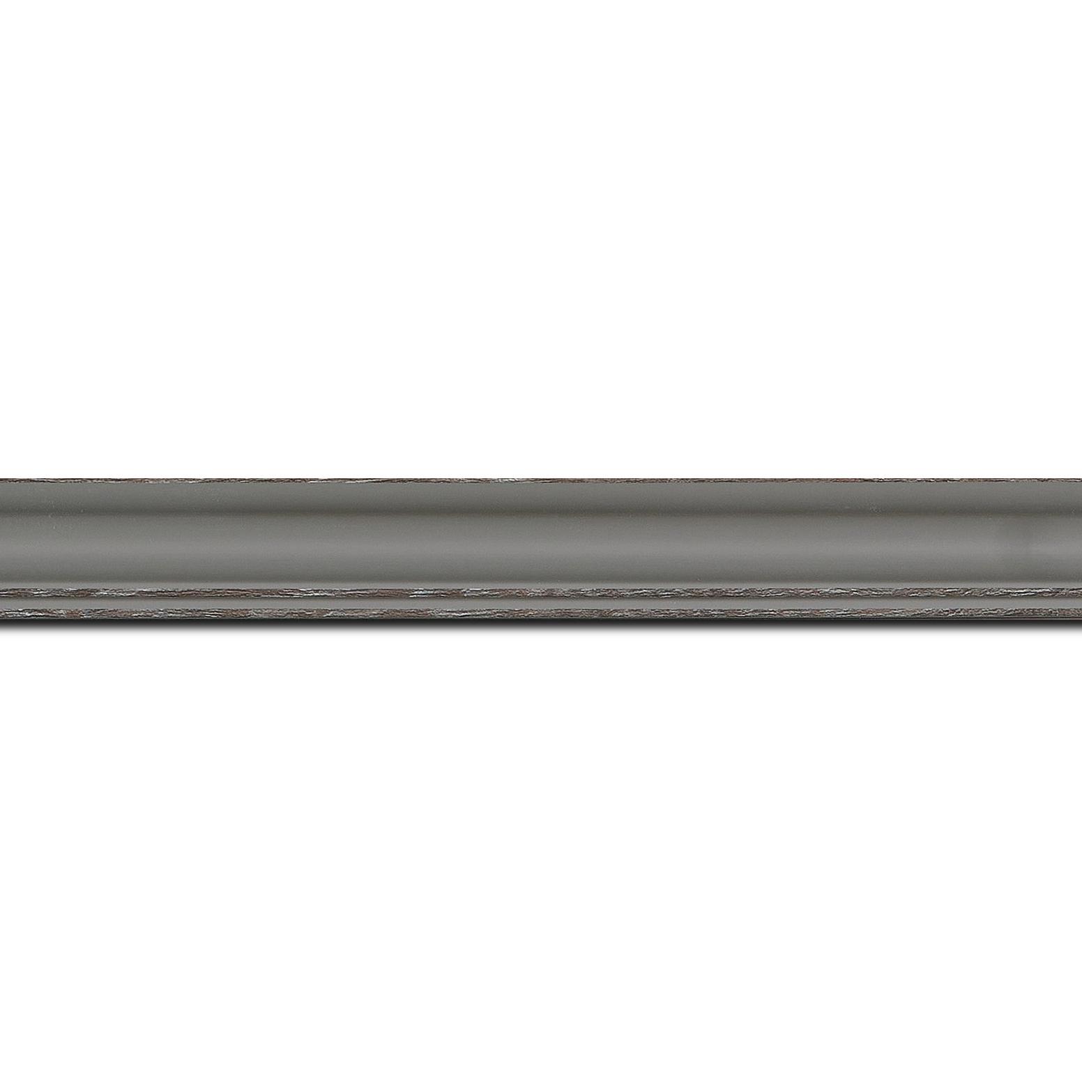 Pack par 12m, bois profil doucine inversée largeur 2.3cm gris satiné bord ressuyé(longueur baguette pouvant varier entre 2.40m et 3m selon arrivage des bois)