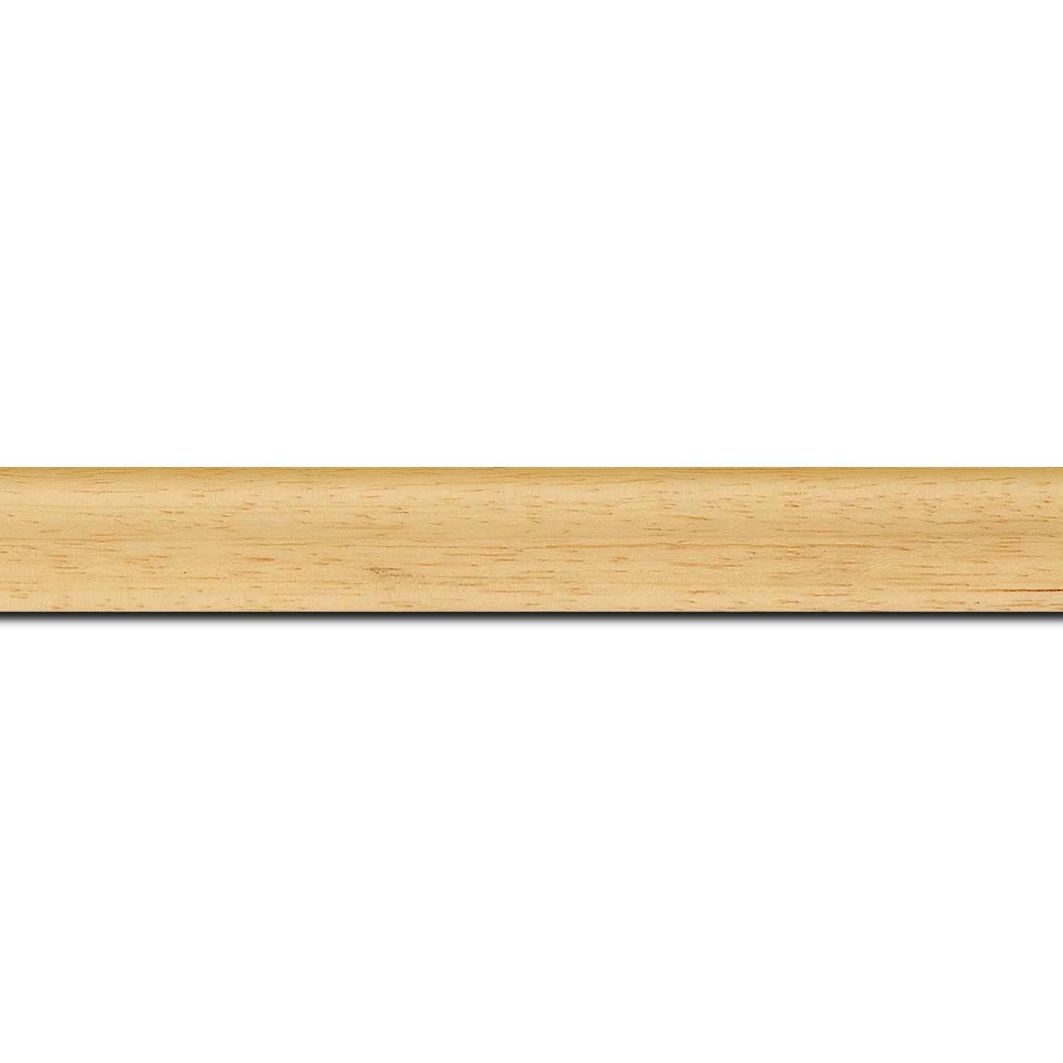 Pack par 12m, bois profil incurvé largeur 2.1cm couleur naturel satiné (longueur baguette pouvant varier entre 2.40m et 3m selon arrivage des bois)