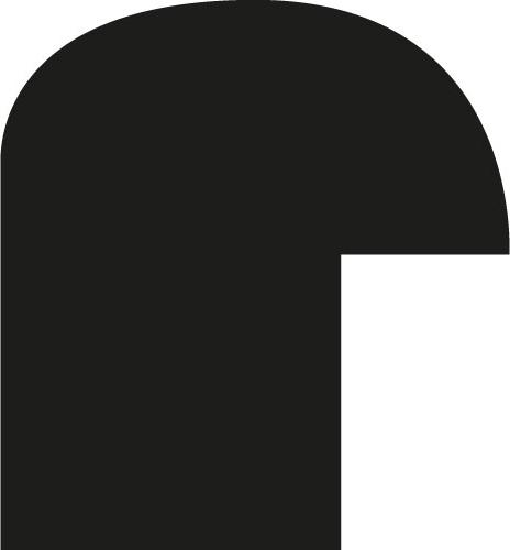 Baguette coupe droite bois profil demi rond largeur 1.5cm couleur noir mat