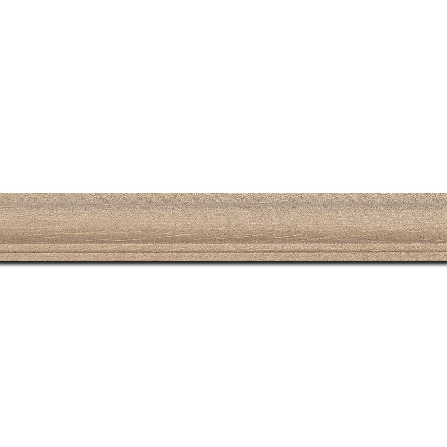 Baguette longueur 1.40m bois profil doucine inversée largeur 2.3cm ayous massif naturel ( sans vernis, peut être peint...)