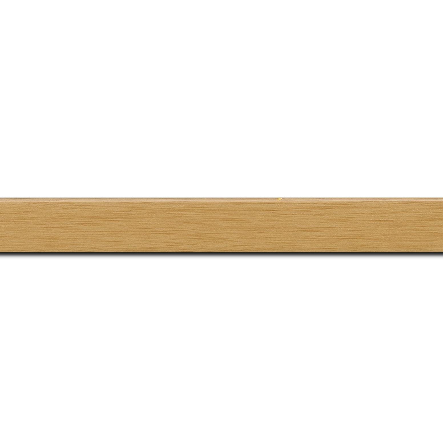 Baguette longueur 1.40m bois profil plat largeur 2cm ayous massif naturel (sans vernis, peut être peint...)