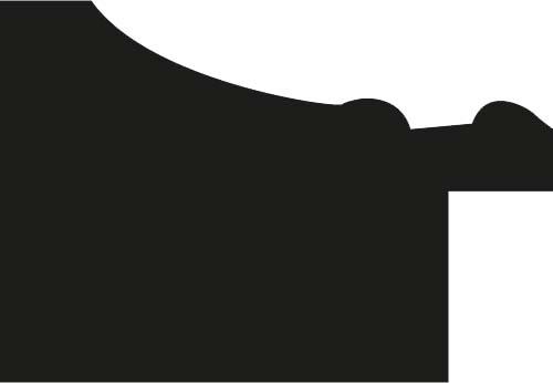Baguette coupe droite bois profil incurvé largeur 3.5cm or antique  empire à canaux