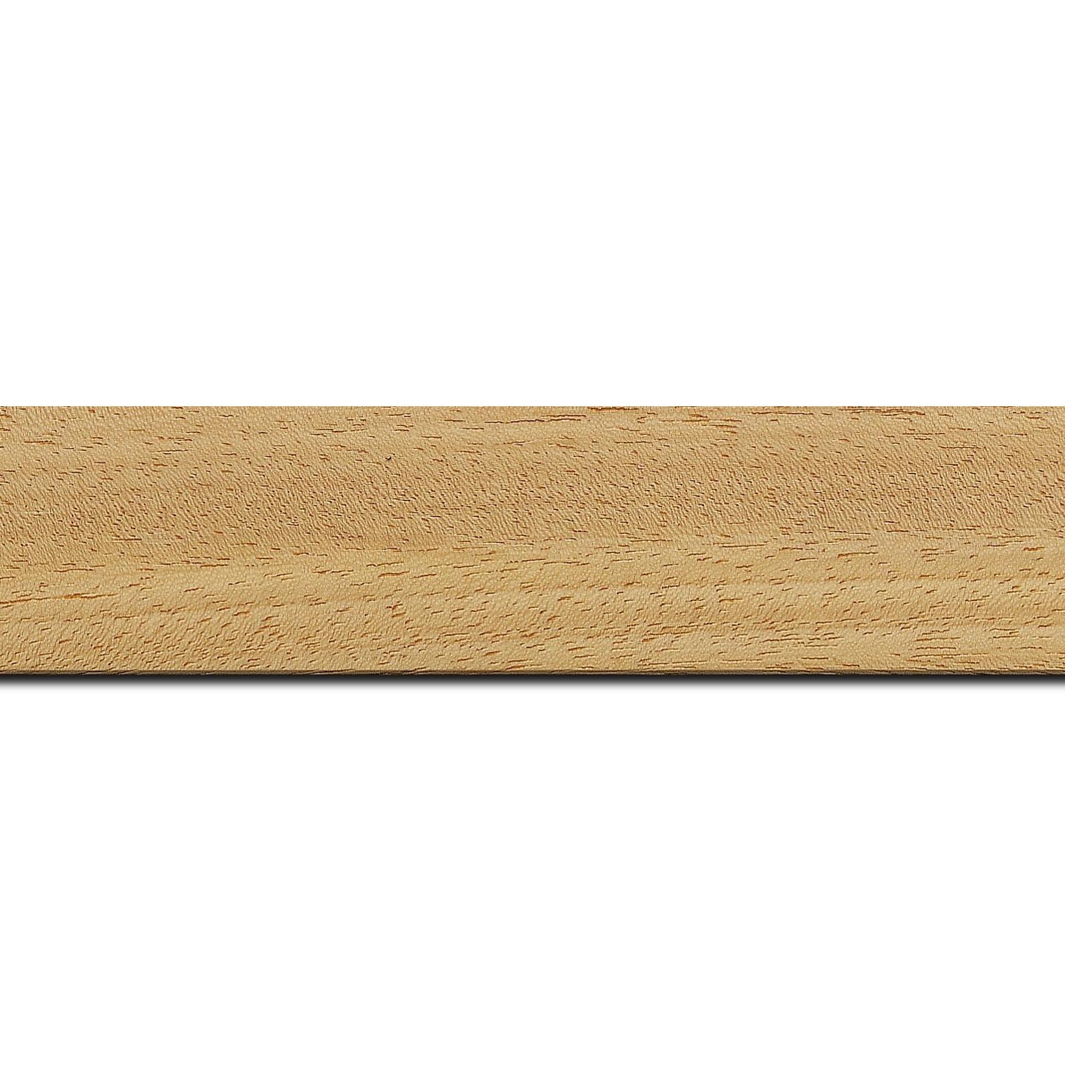 Baguette longueur 1.40m bois profil plat largeur 3.8cm ayous massif naturel (sans vernis,peut être peint...)