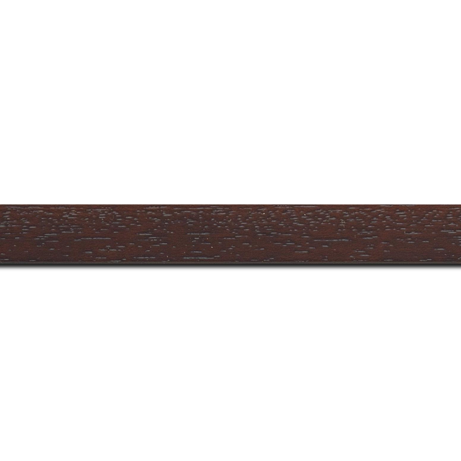 Baguette longueur 1.40m bois profil plat largeur 2cm hauteur 3.3cm marron foncé satiné (aussi appelé cache clou)