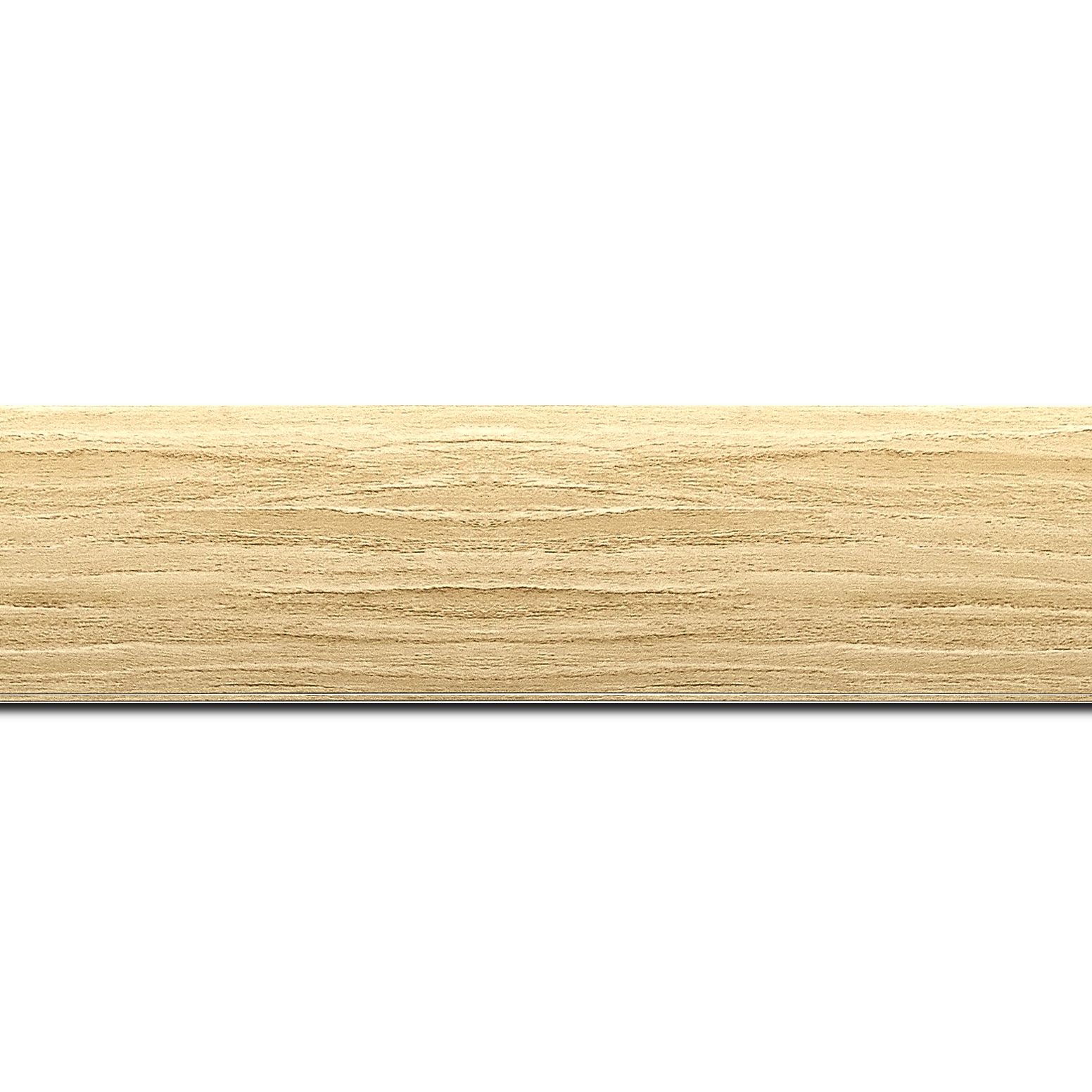 Baguette longueur 1.40m bois profil plat largeur 4.2cm décor bois naturel