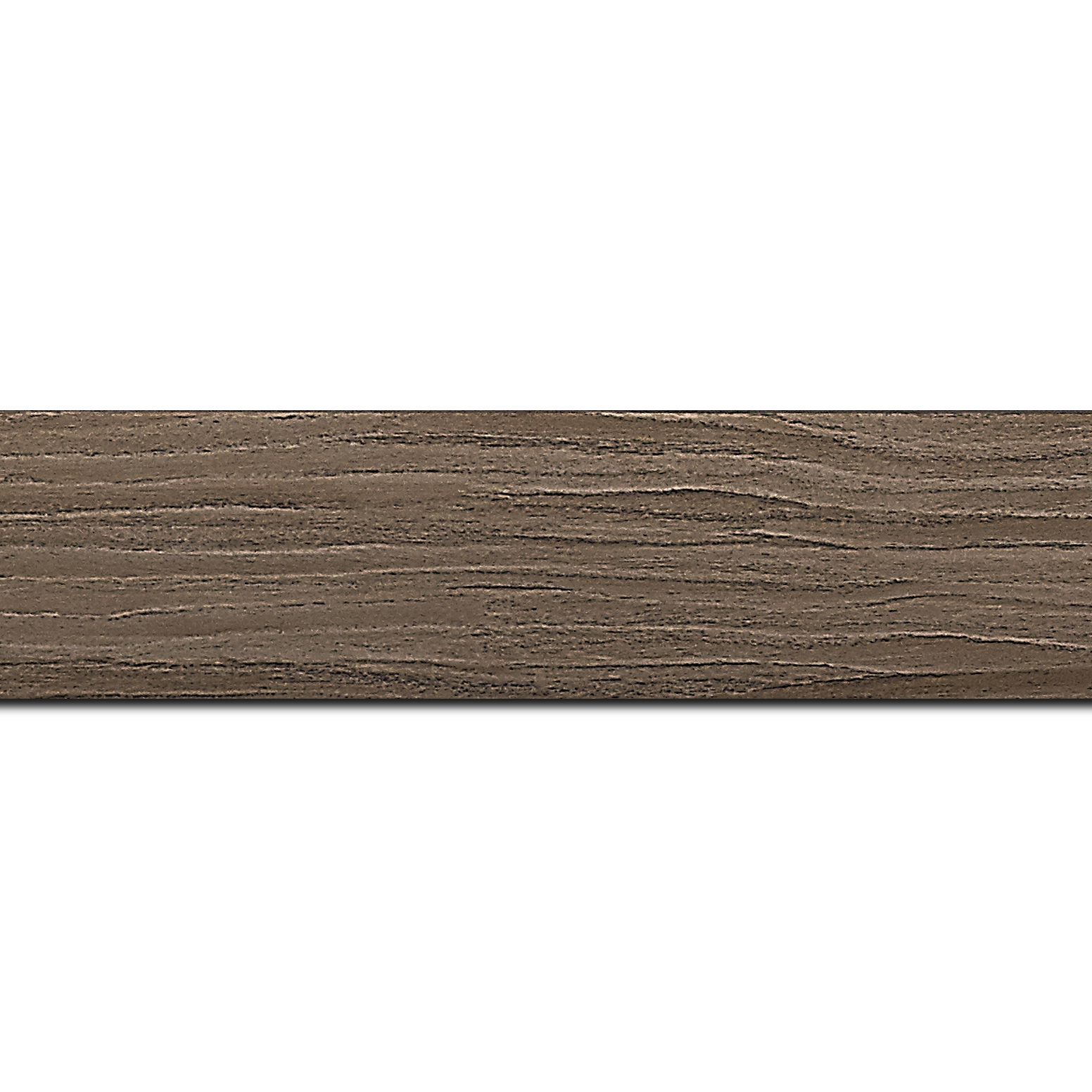 Baguette longueur 1.40m bois profil plat largeur 4.2cm décor bois noyer