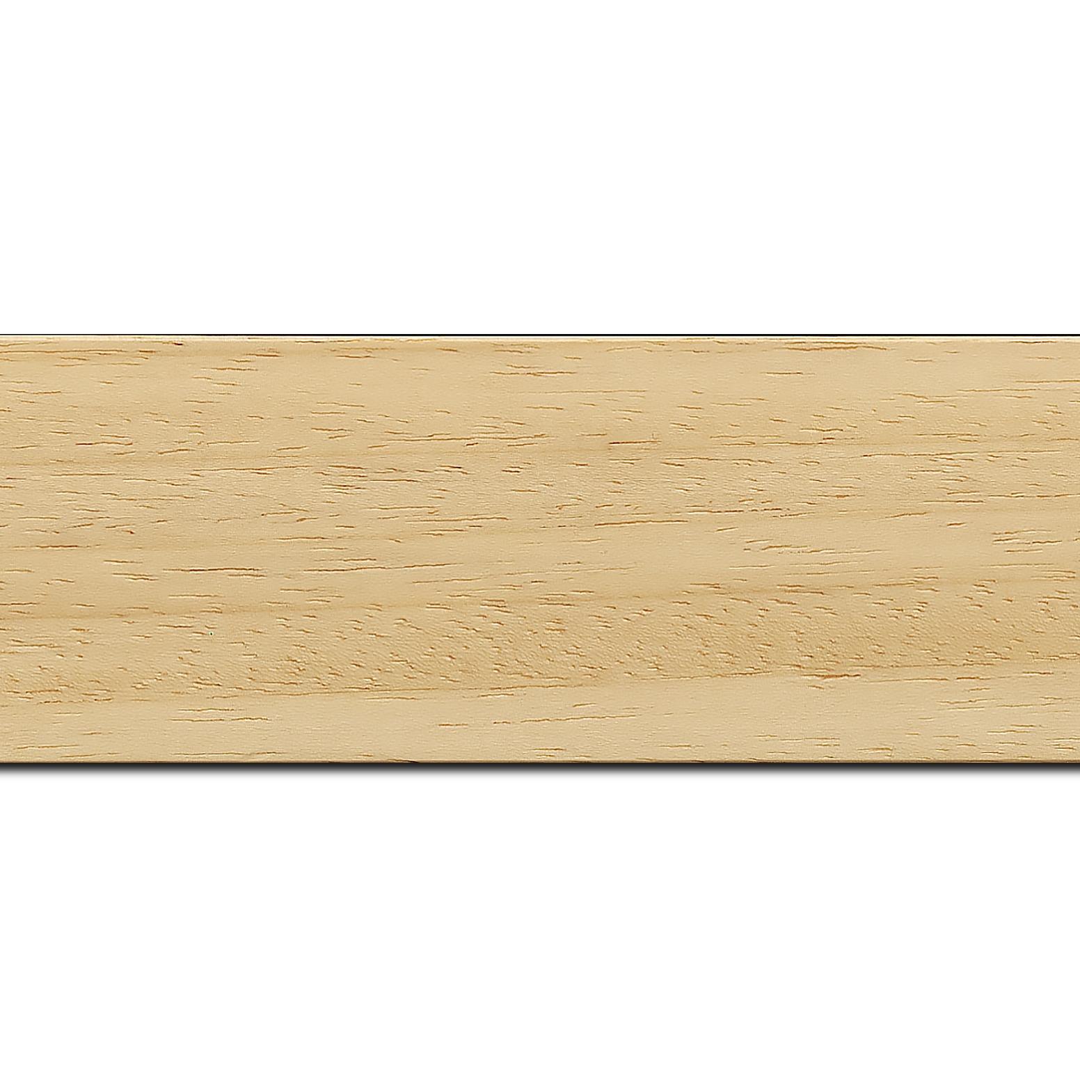 Pack par 12m, bois profil plat largeur 5.9cm couleur naturel (longueur baguette pouvant varier entre 2.40m et 3m selon arrivage des bois)
