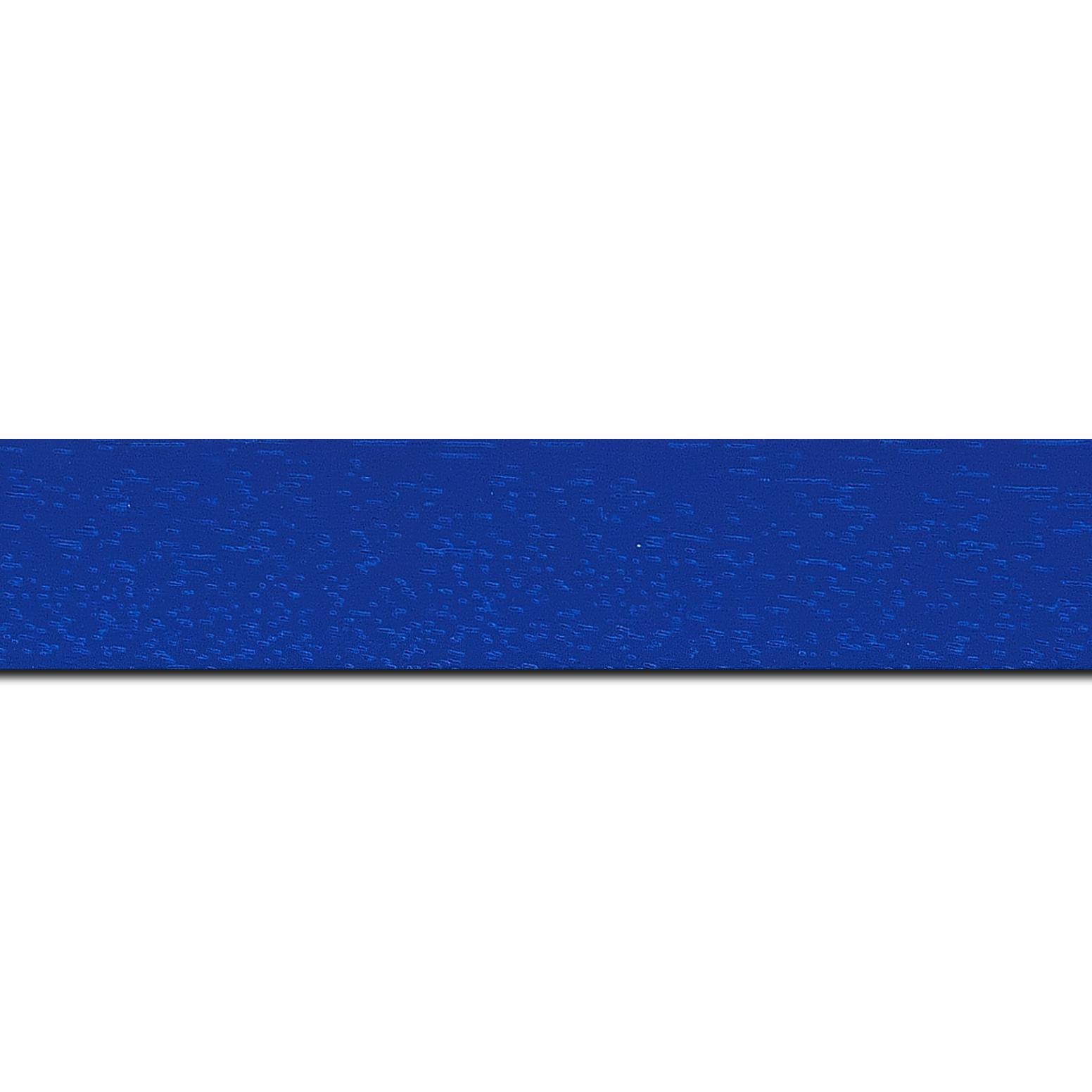 Baguette longueur 1.40m bois profil plat largeur 3cm couleur bleu grec satiné