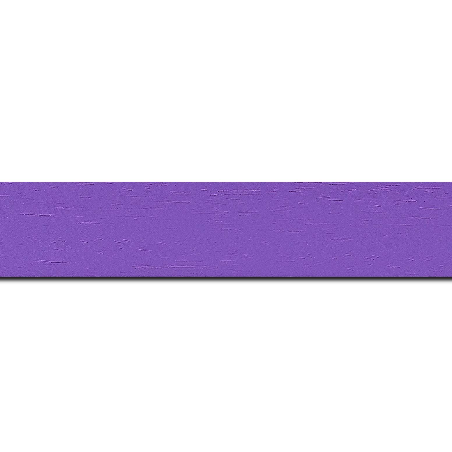 Baguette longueur 1.40m bois profil plat largeur 3cm couleur violet satiné