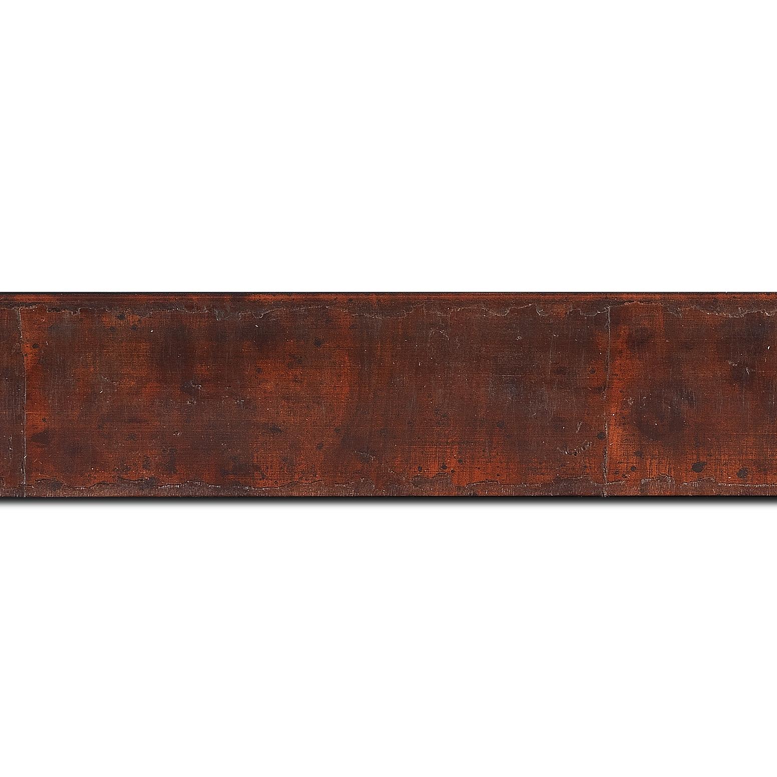 Baguette longueur 1.40m bois profil incurvé largeur 4.1cm couleur marron foncé  effet plaquage