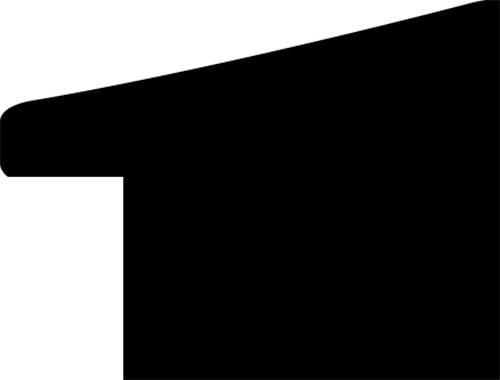 Baguette coupe droite bois profil incurvé largeur 2.8cm plaquage haut de gamme teck noirci