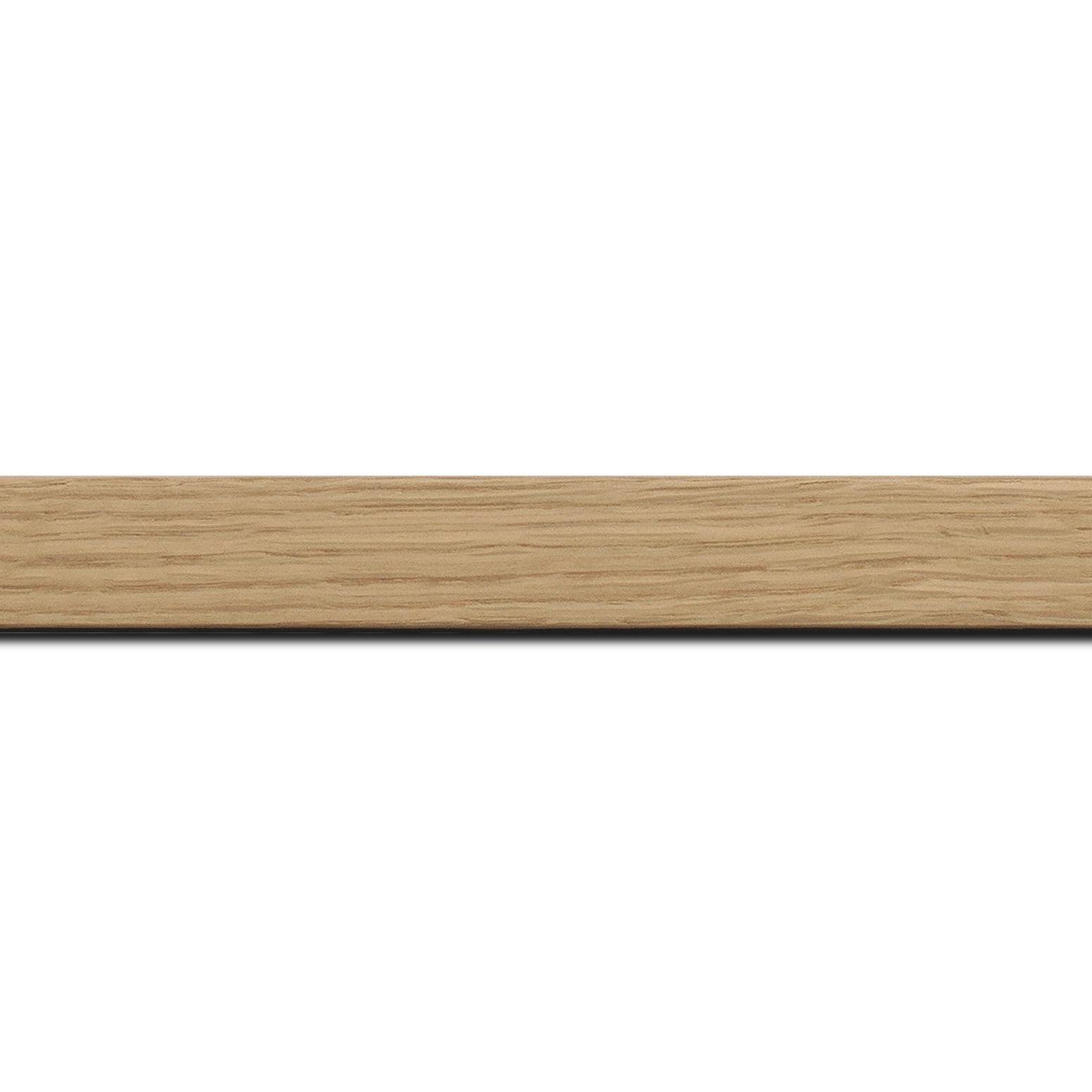 Pack par 12m, bois profil plat largeur 2.5cm plaquage haut de gamme chêne naturel(longueur baguette pouvant varier entre 2.40m et 3m selon arrivage des bois)