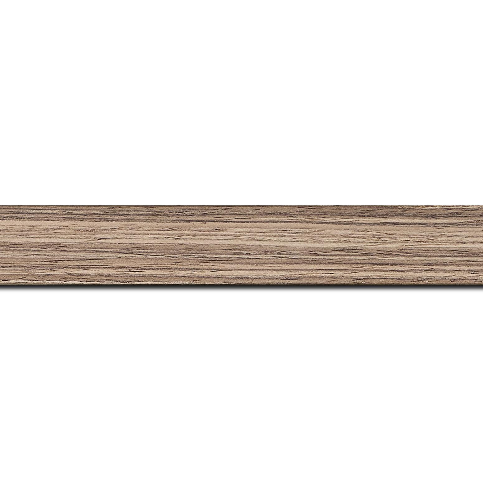 Pack par 12m, bois profil plat largeur 2.5cm plaquage noyer haut de gamme(longueur baguette pouvant varier entre 2.40m et 3m selon arrivage des bois)